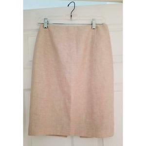 Tahari Womens Pencil Skirt Size 2 Cream NEW
